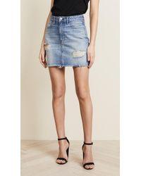 f2722ff2ee Lyst - 3X1 Kelly Denim Paperbag-waist Skirt in Blue