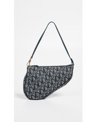 What Goes Around Comes Around Dior Navy Canvas Saddle Mini - Blue