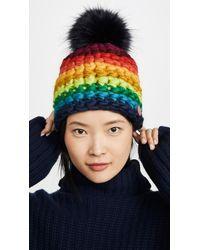 Mischa Lampert Deep Stripe Hat - Multicolour