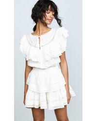 LoveShackFancy Liv Dress - White