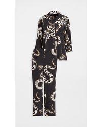 Olivia Von Halle Casablanca Pyjama Set - Black