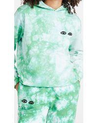 Clare V. Tie Dye Eyes Hoodie - Green