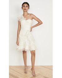 Marchesa notte One Shoulder Cocktail Dress - White