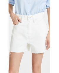 Madewell Mom Shorts - White