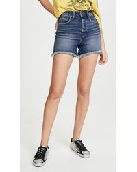 GOOD AMERICAN Bombshell Shorts - Blue