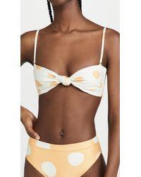 Agua Bendita Lucille Bikini Top - Brown