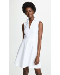 Theory - Collared Flare Dress - Lyst