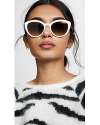 Prada Classic Cat Eye Sunglasses - White