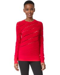 Prabal Gurung - Solid Cable Crew Neck Knit Sweatshirt - Lyst