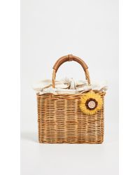 Serpui - Isadora Wicker Basket - Lyst