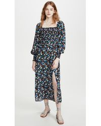 RIXO London Marie Midi-dress - Blue