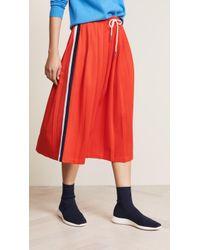Tory Sport - Double Stripe Track Skirt - Lyst