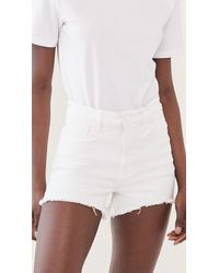 GOOD AMERICAN Bombshell Shorts - White