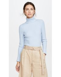 3.1 Phillip Lim Long Sleeve Ribbed Turtleneck - Blue
