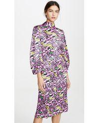Marni Long Sleeve Printed Dress - Pink