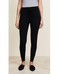 White + Warren Essential Cashmere Pants - Black