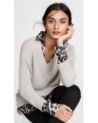 Brochu Walker V Neck Layered Sweater - Multicolour