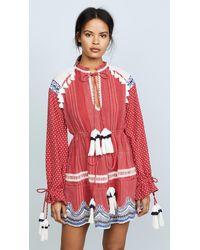 Hemant & Nandita Long Sleeve Dress - Red