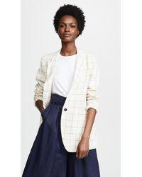 Giada Forte - Ramie Linen Check Jacket - Lyst