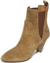 Veronica Beard Landon Heel Booties - Natural
