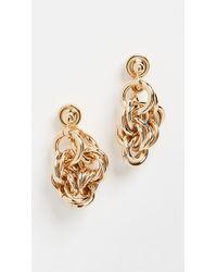 JW Anderson Multi Links Folded Earrings - Metallic