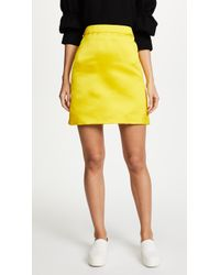Adam Lippes - Duchess Satin A-line Miniskirt - Lyst