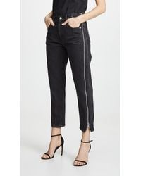 3.1 Phillip Lim Straight Jeans With Zipper - Black