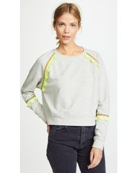 Generation Love - Devon Brocade Trim Sweatshirt - Lyst