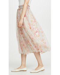Needle & Thread - Ruby Bloom Smocked Ballerina Skirt - Lyst
