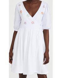 Tach Clothing Felicitas Wrap Dress - White