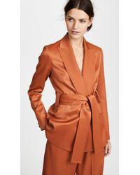 Pallas Cabaret Wrap Waist Blazer - Orange