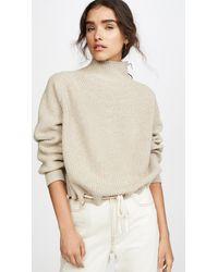 Bassike Drawstring Hem Sweater - Natural