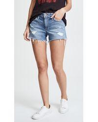 """Joe's Jeans - Ozzie 4"""" Cut Off Short In Rami - Lyst"""