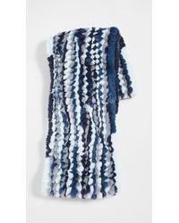 Jocelyn Multi Knitted Faux Fur Infinity Scarf - Blue