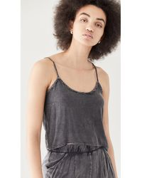 Chaser Heirloom Wovens Cropped Low Back High Lo Cami - Black