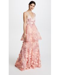 Notte by Marchesa | Sleeveless Two Tiered Gown | Lyst