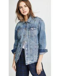 Madewell Oversized Jean Jacket - Blue