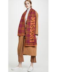 Missoni Intarsia Wool-blend Scarf - Pink