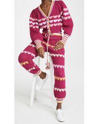 LoveShackFancy Buena Cropped Cardigan - Pink