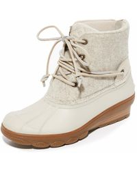 Sperry Top-Sider - Saltwater Wedge Tide Wool Booties - Lyst