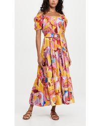 FARM Rio Neon Macaws Maxi Dress - Orange