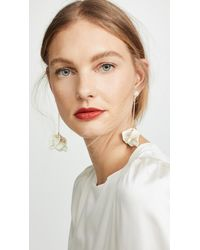 Shashi Petunia Earrings - White