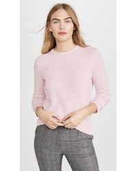 Theory Crew Neck Cashmere Pullover - Pink