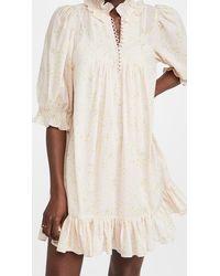 Rebecca Taylor Short Sleeve Adela Ruffle Dress - Multicolour