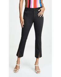 Alice + Olivia Stacey Slit Ankle Trousers - Black
