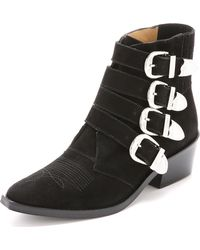 Toga Pulla - Buckled Suede Booties - Lyst