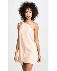 Michelle Mason - One Shoulder Shift Dress - Lyst