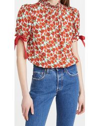 Alice + Olivia Irene Cropped Blouse - Multicolour