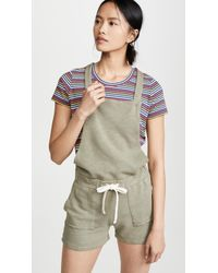 Monrow Short Overall W/patch Pockets - Green