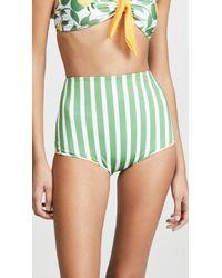 Palmacea Limoncello Reversible Bikini Bottoms - Green